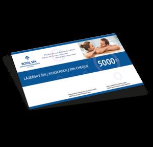 Dárkový poukaz na služby v lázních Royal Spa na 5000 Kč