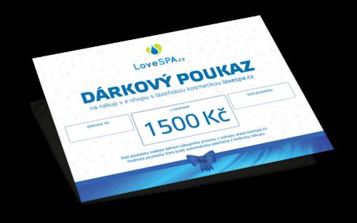 1500 Kč gift voucher