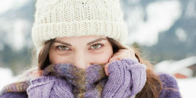 Skin care in winter and frost